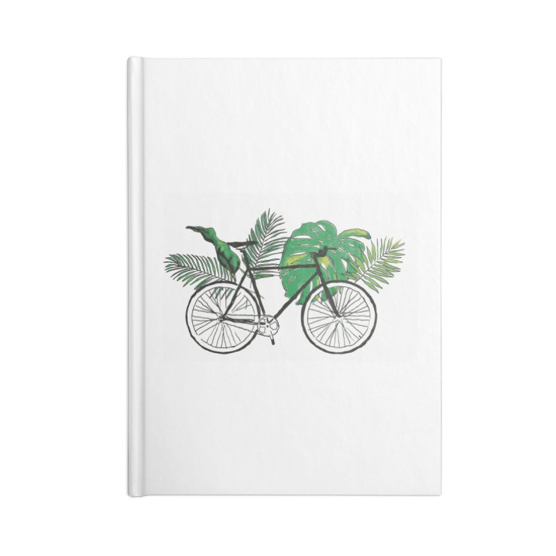 bike and plants Accessories Lined Journal Notebook by sebastiansrd's Artist Shop