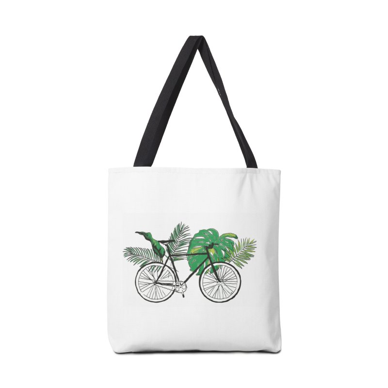 bike and plants Accessories Tote Bag Bag by sebastiansrd's Artist Shop