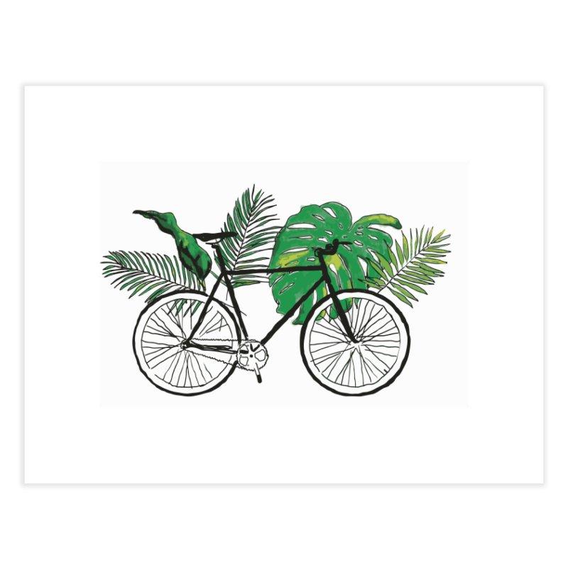 bike and plants Home Fine Art Print by sebastiansrd's Artist Shop