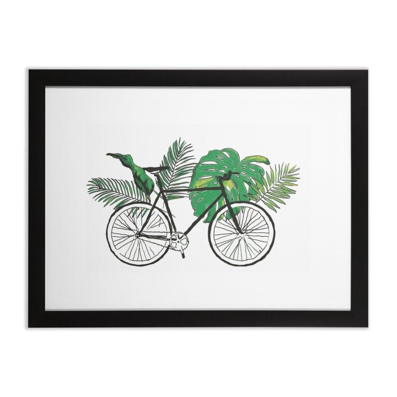 bike and plants Home Framed Fine Art Print by sebastiansrd's Artist Shop