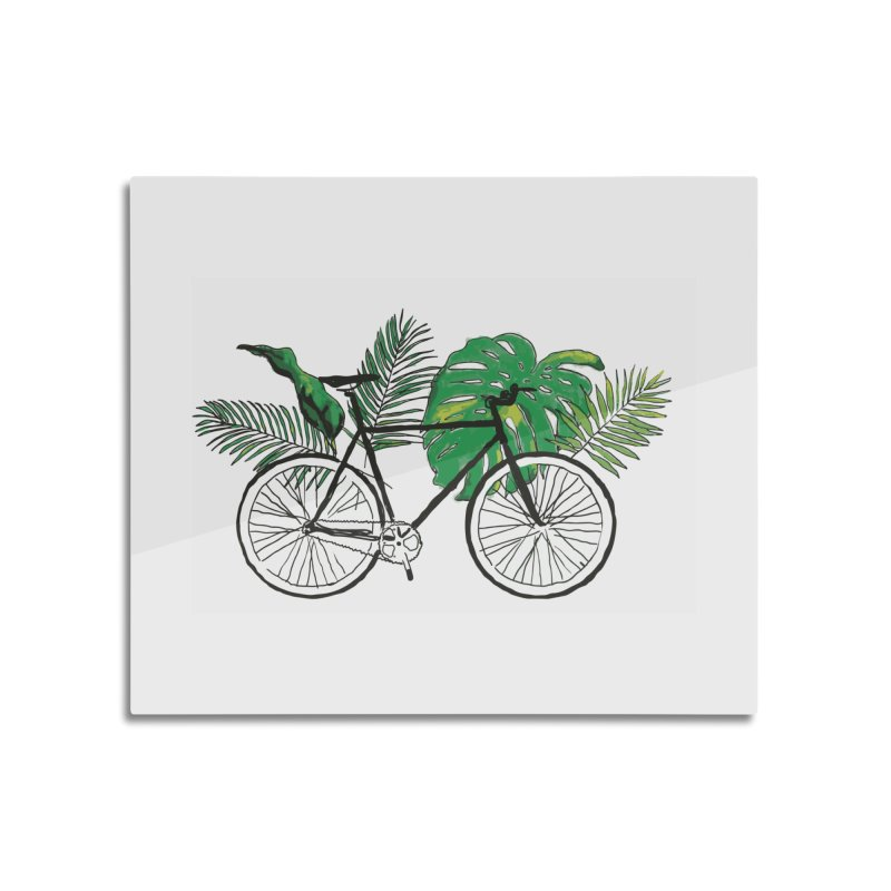 bike and plants Home Mounted Acrylic Print by sebastiansrd's Artist Shop