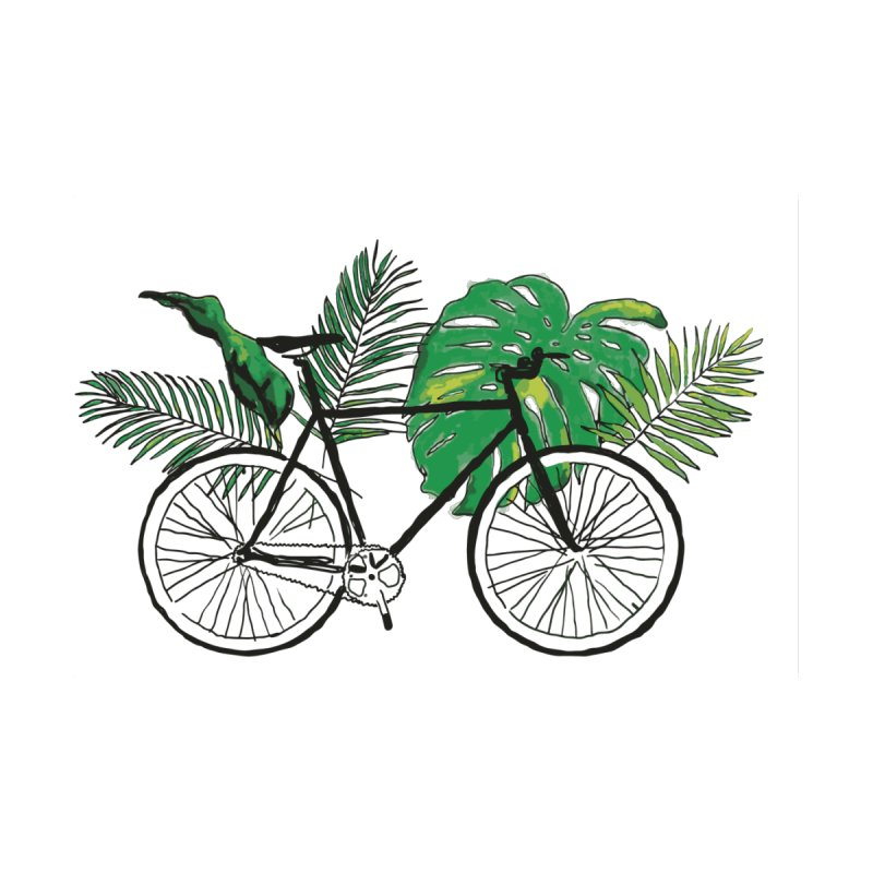 bike with plants by sebastiansrd's Artist Shop