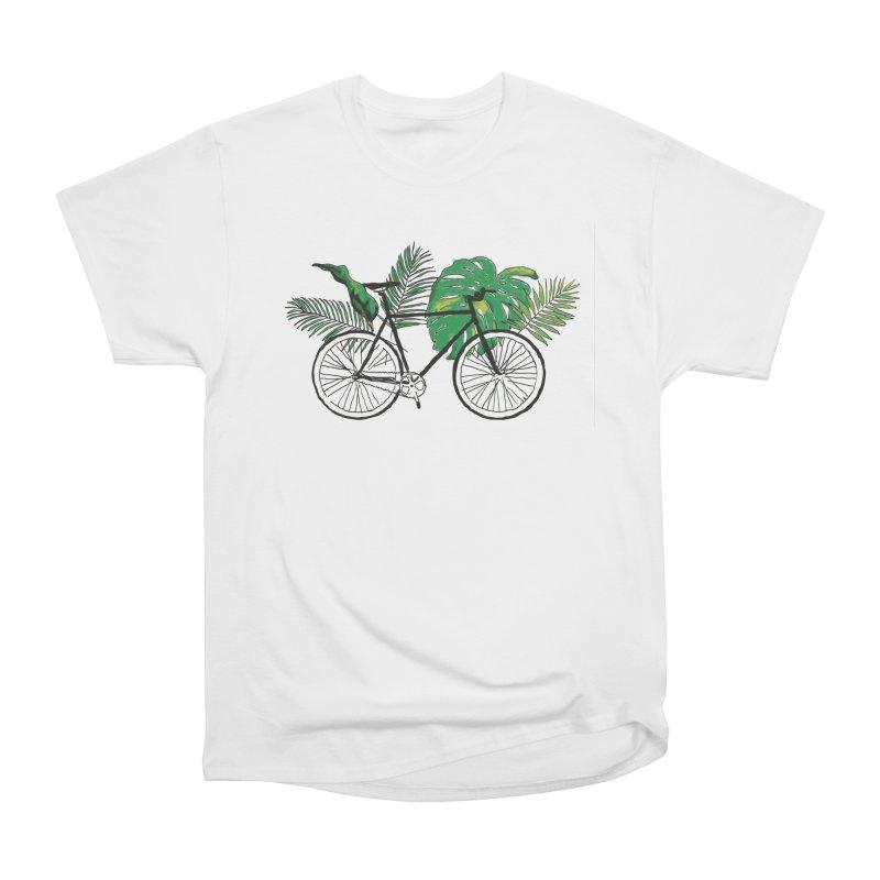 bike with plants Women's Heavyweight Unisex T-Shirt by sebastiansrd's Artist Shop