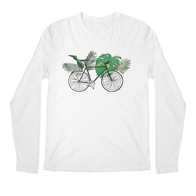bike with plants Men's Regular Longsleeve T-Shirt by sebastiansrd's Artist Shop