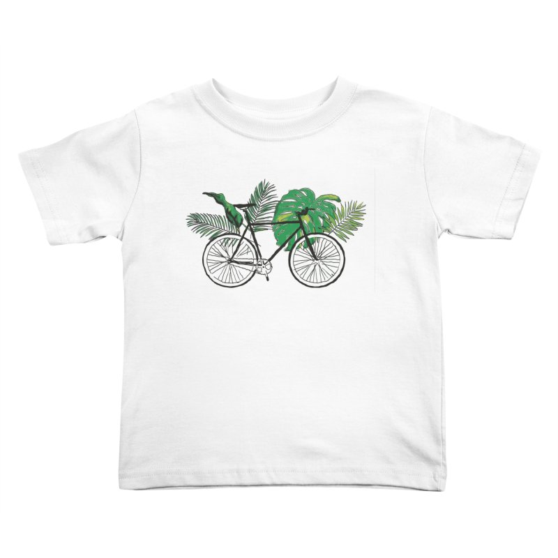 bike with plants Kids Toddler T-Shirt by sebastiansrd's Artist Shop