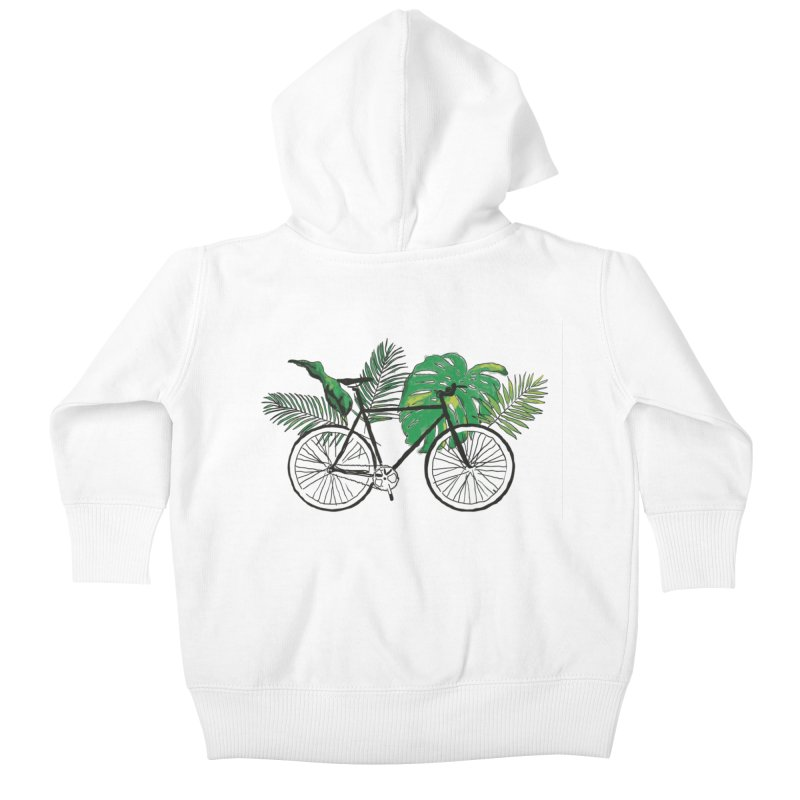 bike with plants Kids Baby Zip-Up Hoody by sebastiansrd's Artist Shop