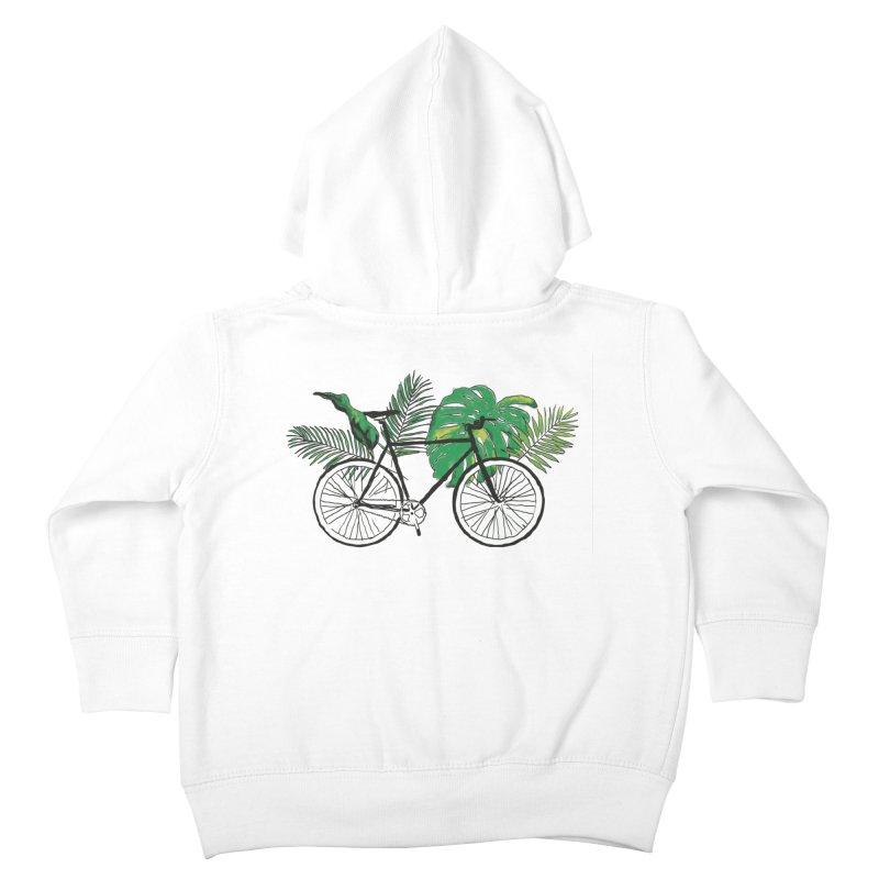 bike with plants Kids Toddler Zip-Up Hoody by sebastiansrd's Artist Shop