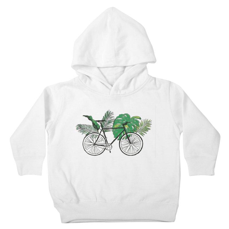 bike with plants Kids Toddler Pullover Hoody by sebastiansrd's Artist Shop
