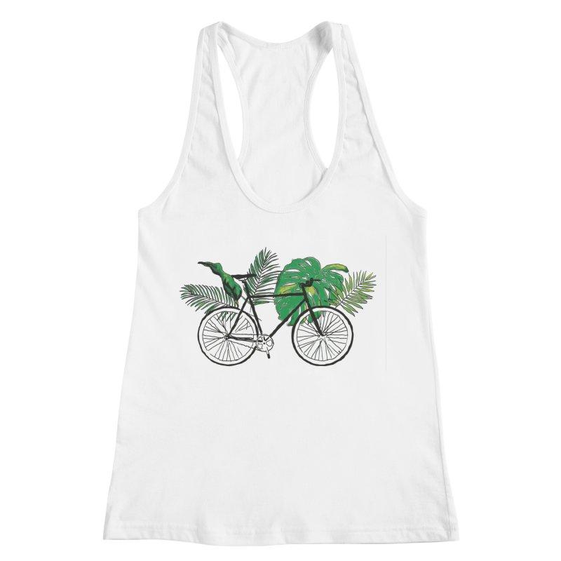 bike with plants Women's Racerback Tank by sebastiansrd's Artist Shop