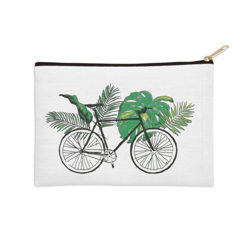 bike with plants Accessories Zip Pouch by sebastiansrd's Artist Shop