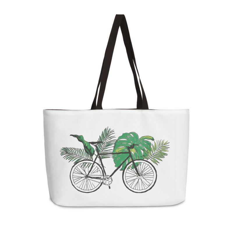 bike with plants Accessories Weekender Bag Bag by sebastiansrd's Artist Shop