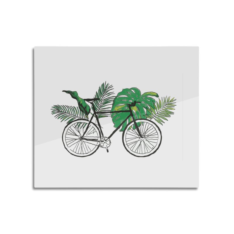 bike with plants Home Mounted Acrylic Print by sebastiansrd's Artist Shop