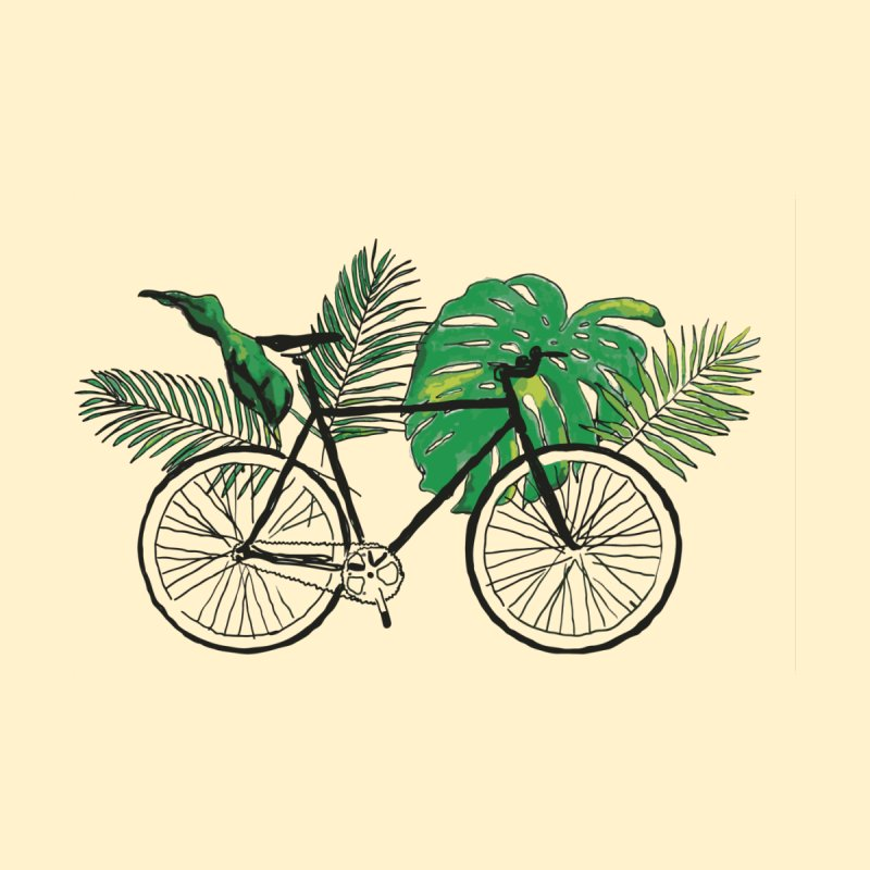 bike with tropical plants by sebastiansrd's Artist Shop