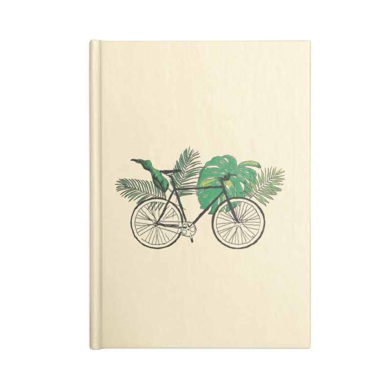 bike with tropical plants Accessories Blank Journal Notebook by sebastiansrd's Artist Shop