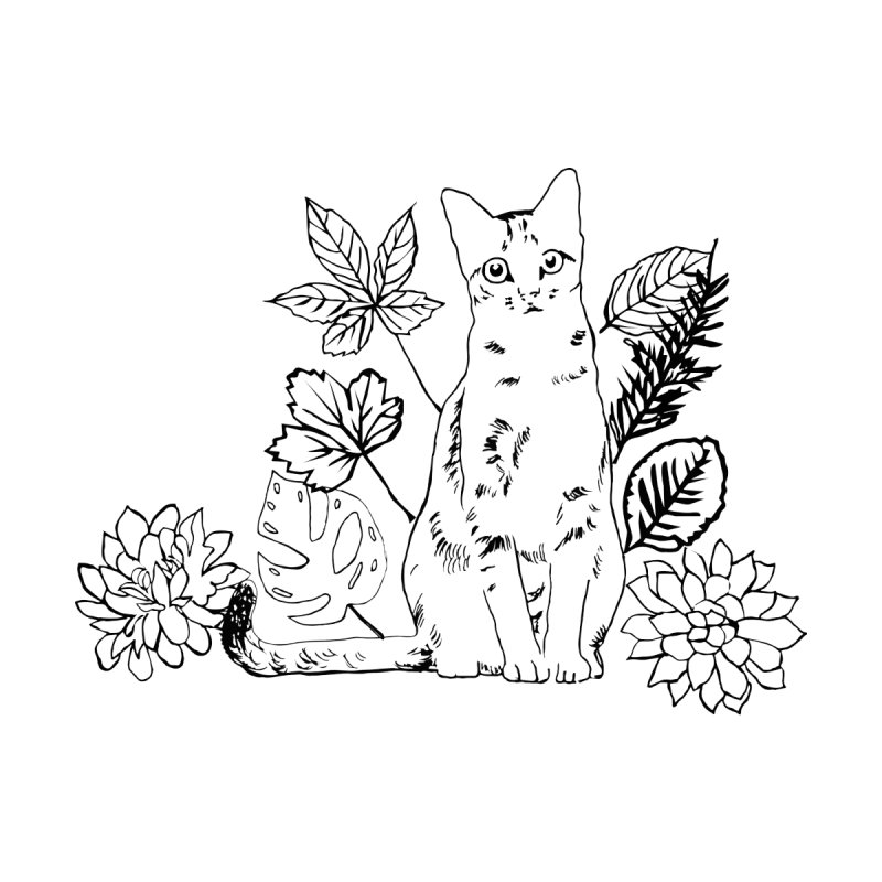 Catm with plants by sebastiansrd's Artist Shop