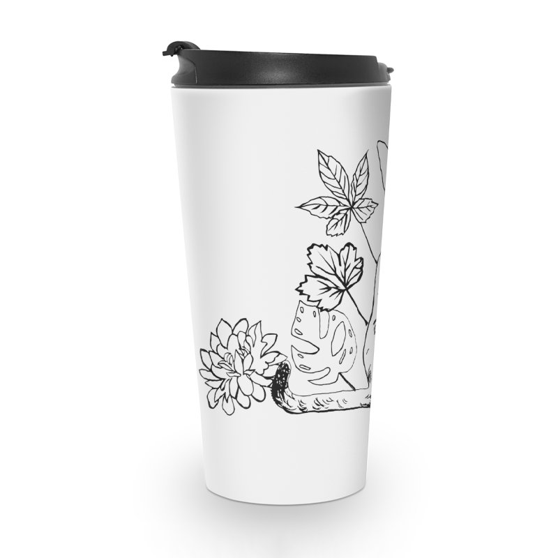 Catm with plants Accessories Travel Mug by sebastiansrd's Artist Shop