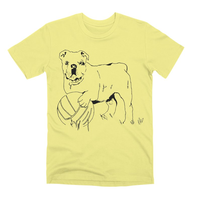 dog with ball Men's Premium T-Shirt by sebastiansrd's Artist Shop