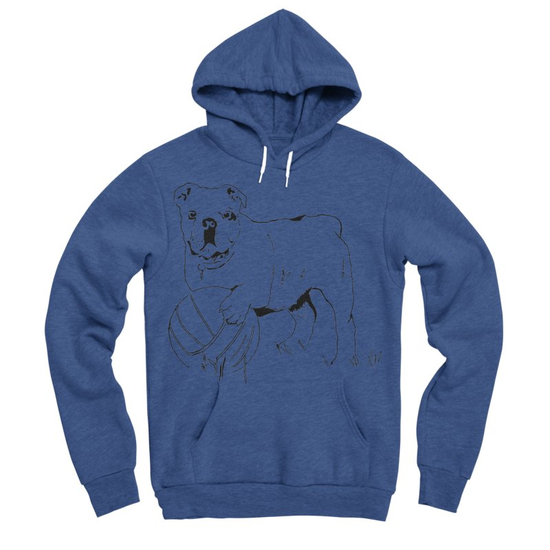 dog with ball Men's Sponge Fleece Pullover Hoody by sebastiansrd's Artist Shop