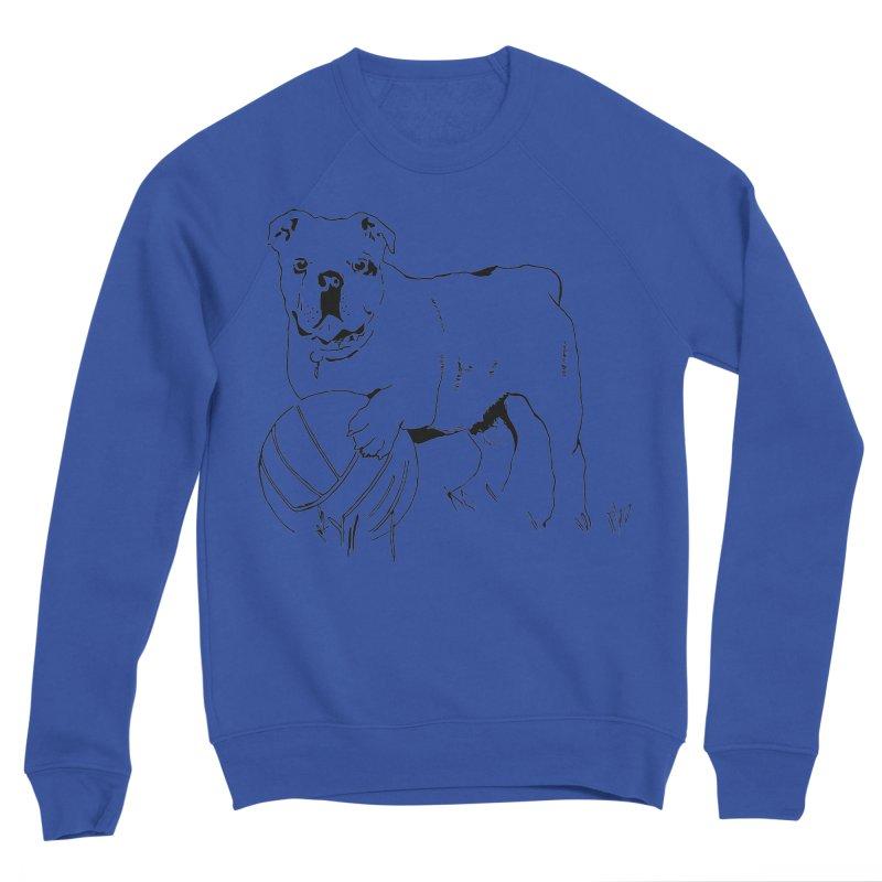 dog with ball Men's Sponge Fleece Sweatshirt by sebastiansrd's Artist Shop