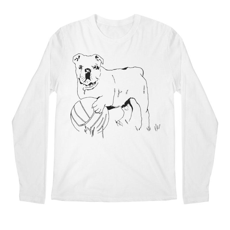 dog with ball Men's Regular Longsleeve T-Shirt by sebastiansrd's Artist Shop