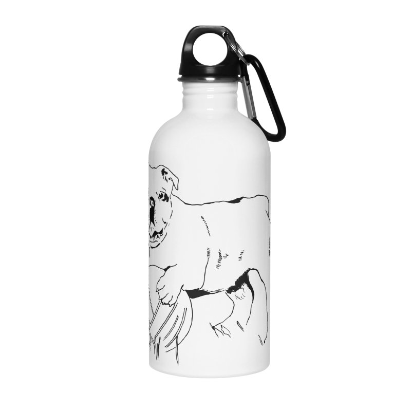dog with ball Accessories Water Bottle by sebastiansrd's Artist Shop