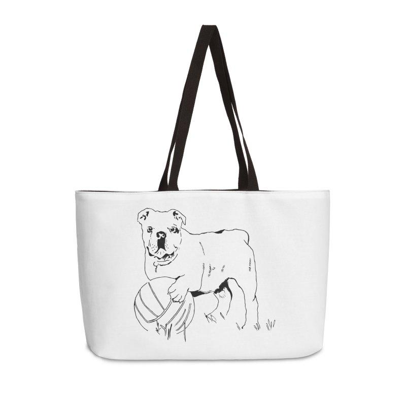 dog with ball Accessories Weekender Bag Bag by sebastiansrd's Artist Shop