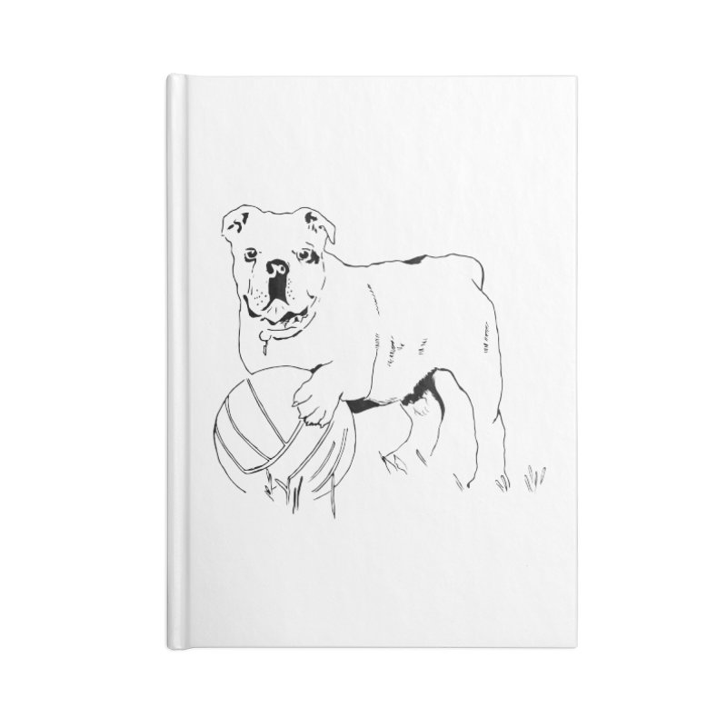 dog with ball Accessories Lined Journal Notebook by sebastiansrd's Artist Shop