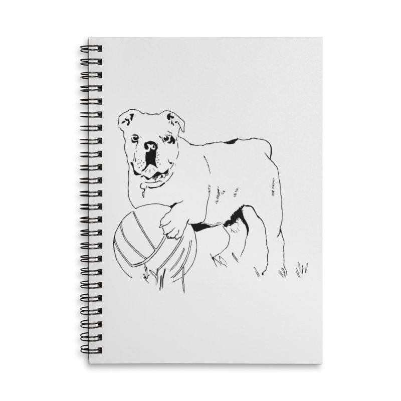 dog with ball Accessories Lined Spiral Notebook by sebastiansrd's Artist Shop
