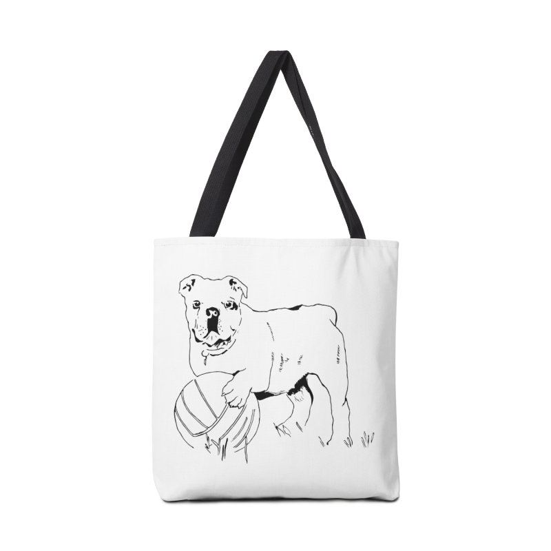 dog with ball Accessories Tote Bag Bag by sebastiansrd's Artist Shop