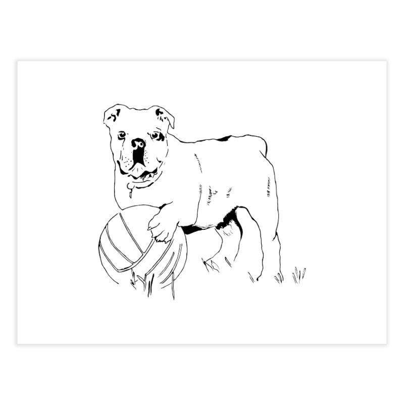dog with ball Home Fine Art Print by sebastiansrd's Artist Shop