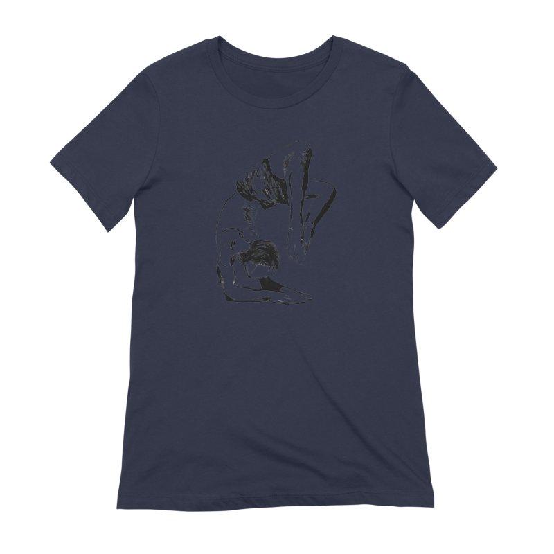 yoga boy Women's Extra Soft T-Shirt by sebastiansrd's Artist Shop