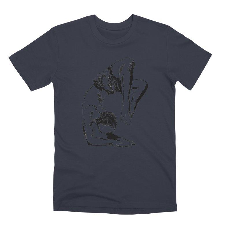 yoga boy Men's Premium T-Shirt by sebastiansrd's Artist Shop