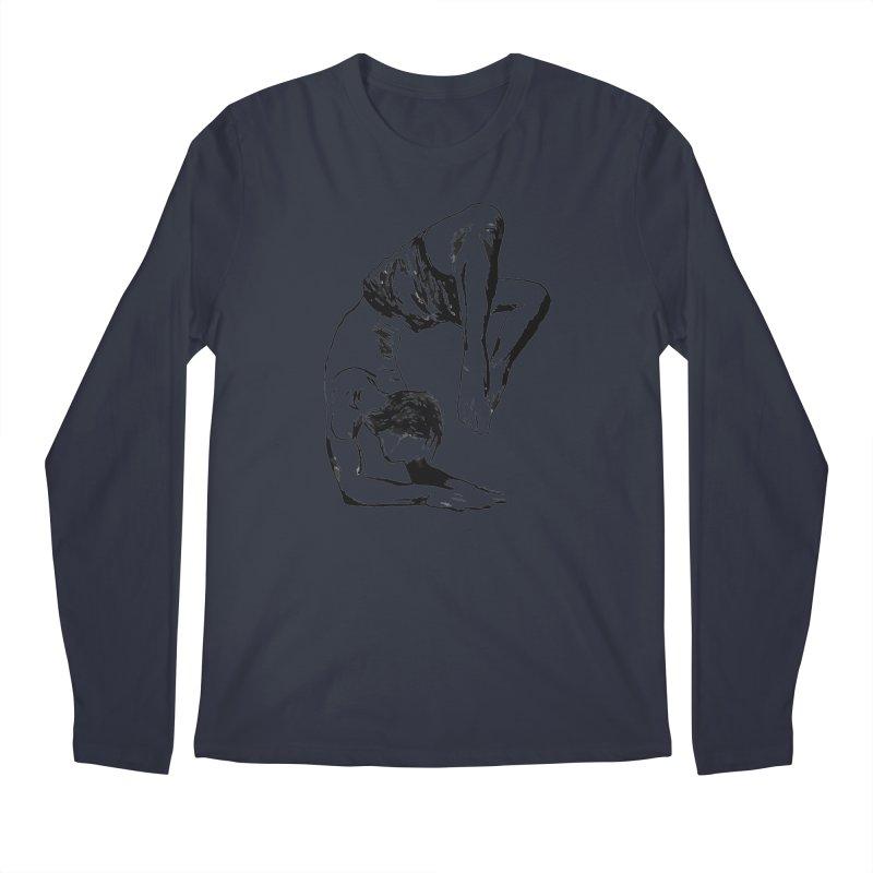 yoga boy Men's Regular Longsleeve T-Shirt by sebastiansrd's Artist Shop
