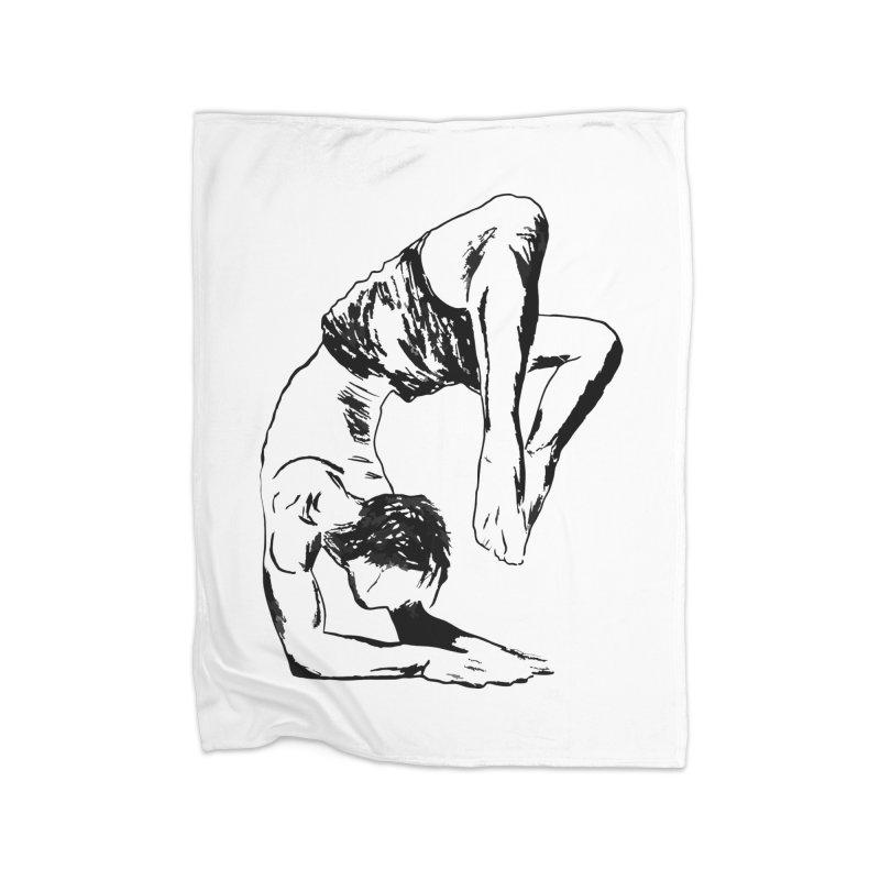 yoga boy Home Fleece Blanket Blanket by sebastiansrd's Artist Shop