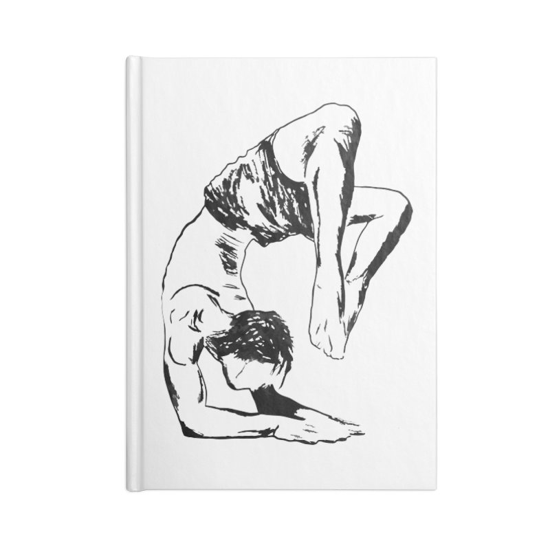 yoga boy Accessories Lined Journal Notebook by sebastiansrd's Artist Shop