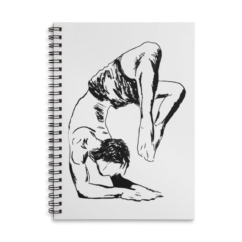 yoga boy Accessories Lined Spiral Notebook by sebastiansrd's Artist Shop