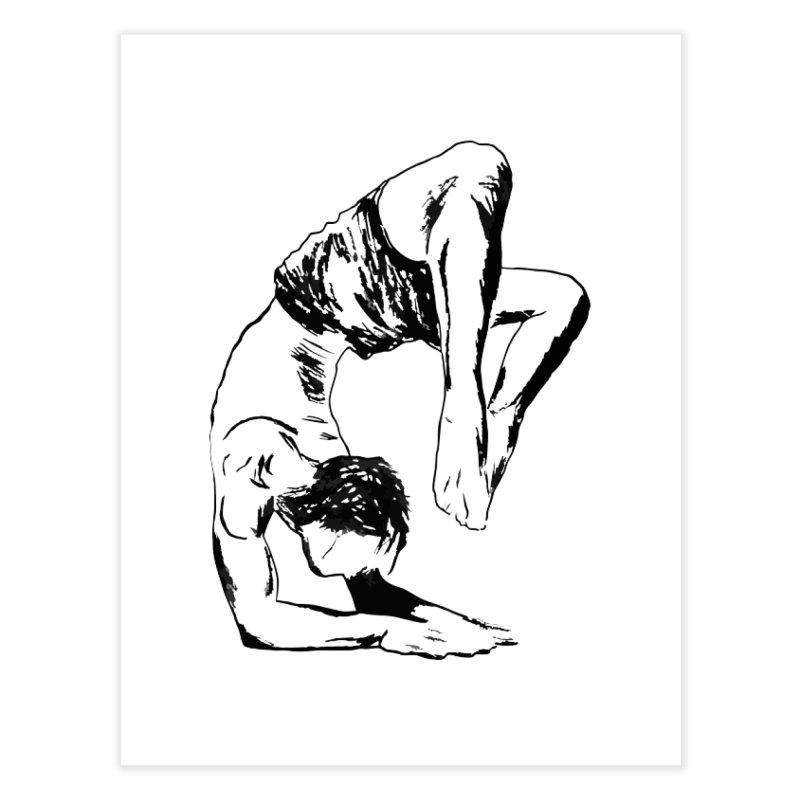 yoga boy Home Fine Art Print by sebastiansrd's Artist Shop
