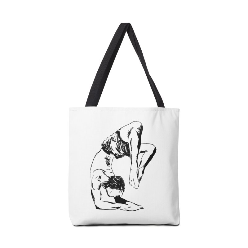 yoga boy Accessories Tote Bag Bag by sebastiansrd's Artist Shop