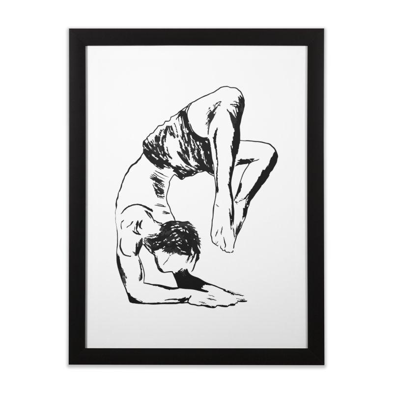 yoga boy Home Framed Fine Art Print by sebastiansrd's Artist Shop
