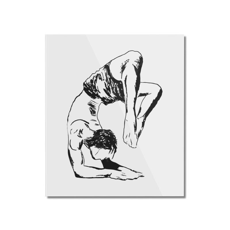 yoga boy Home Mounted Acrylic Print by sebastiansrd's Artist Shop