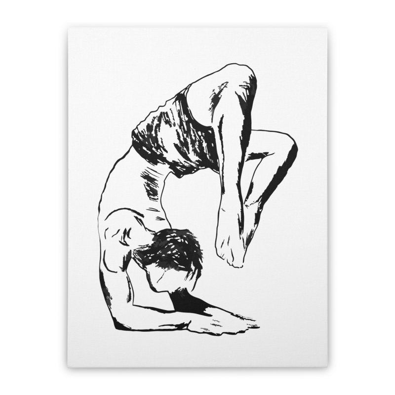 yoga boy Home Stretched Canvas by sebastiansrd's Artist Shop