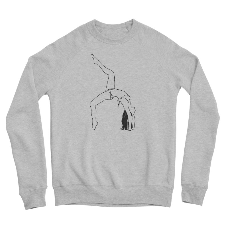 chica haciendo yoga Women's Sponge Fleece Sweatshirt by sebastiansrd's Artist Shop