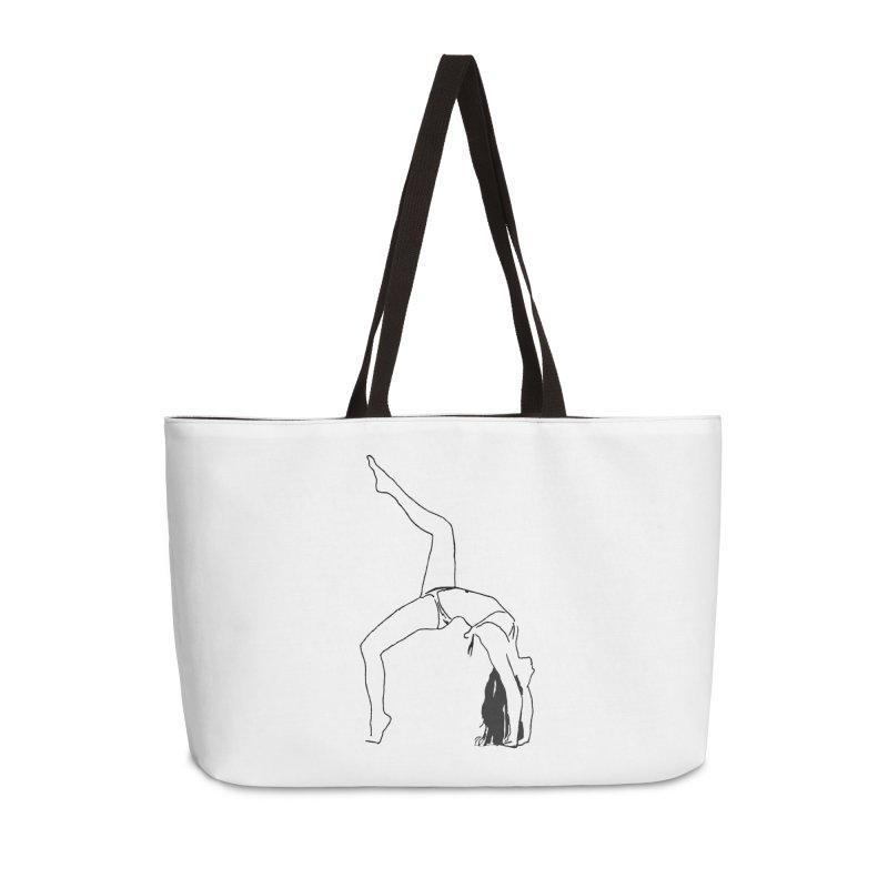 chica haciendo yoga Accessories Weekender Bag Bag by sebastiansrd's Artist Shop