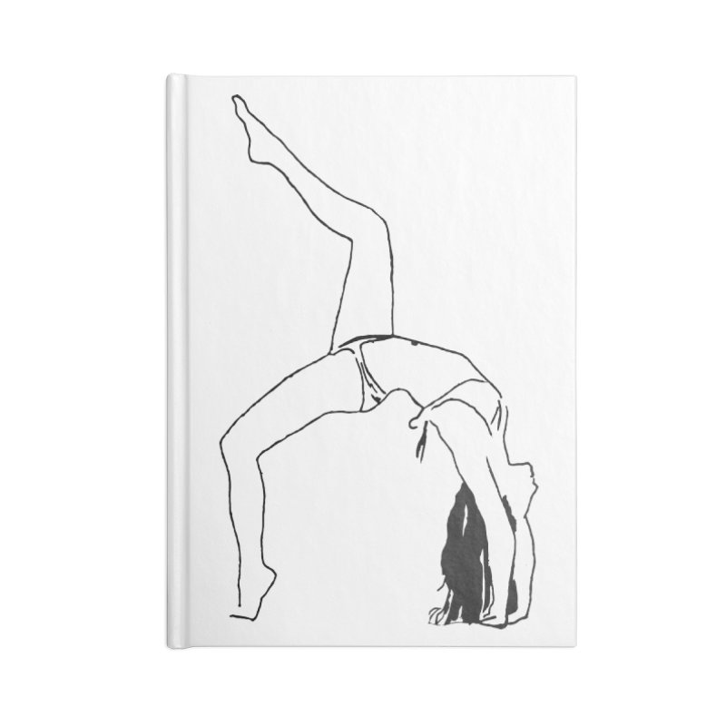 chica haciendo yoga Accessories Blank Journal Notebook by sebastiansrd's Artist Shop