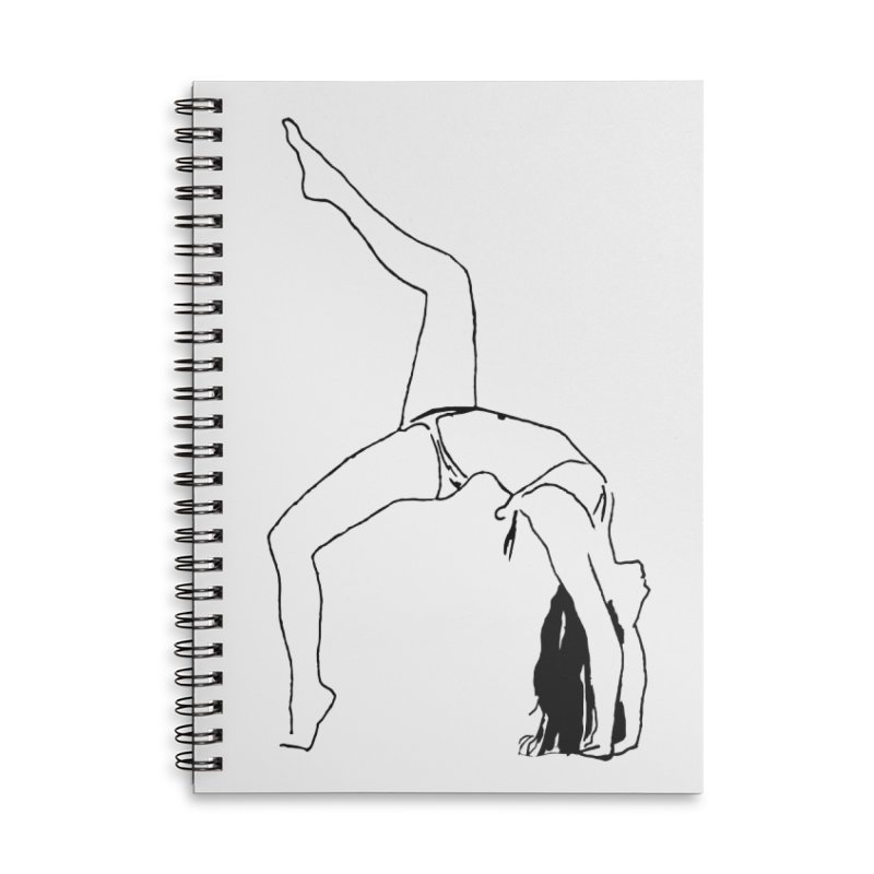 chica haciendo yoga Accessories Lined Spiral Notebook by sebastiansrd's Artist Shop