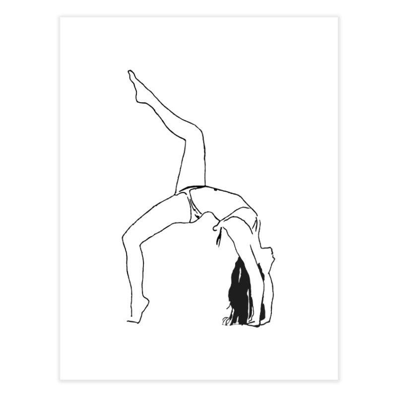 chica haciendo yoga Home Fine Art Print by sebastiansrd's Artist Shop
