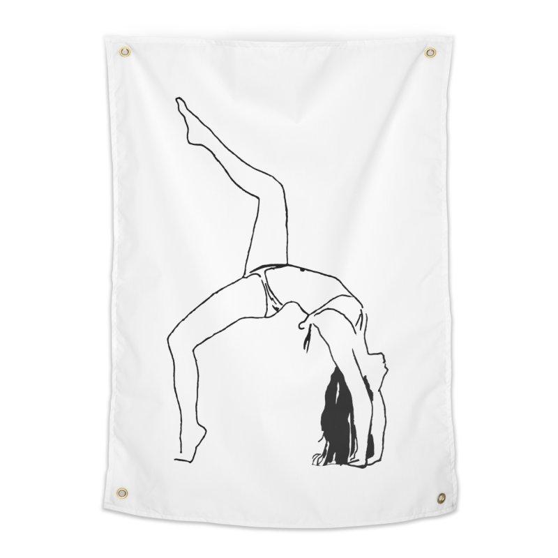 chica haciendo yoga Home Tapestry by sebastiansrd's Artist Shop