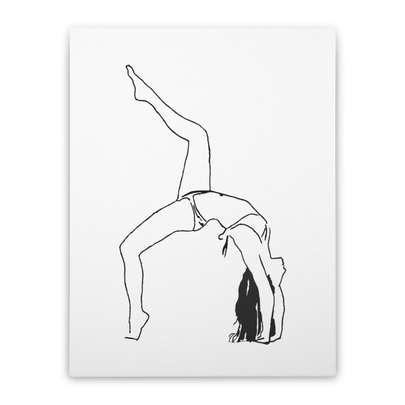 chica haciendo yoga Home Stretched Canvas by sebastiansrd's Artist Shop