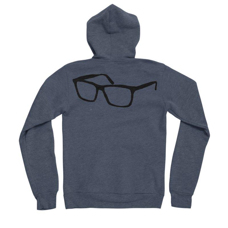 glasses Women's Sponge Fleece Zip-Up Hoody by sebastiansrd's Artist Shop