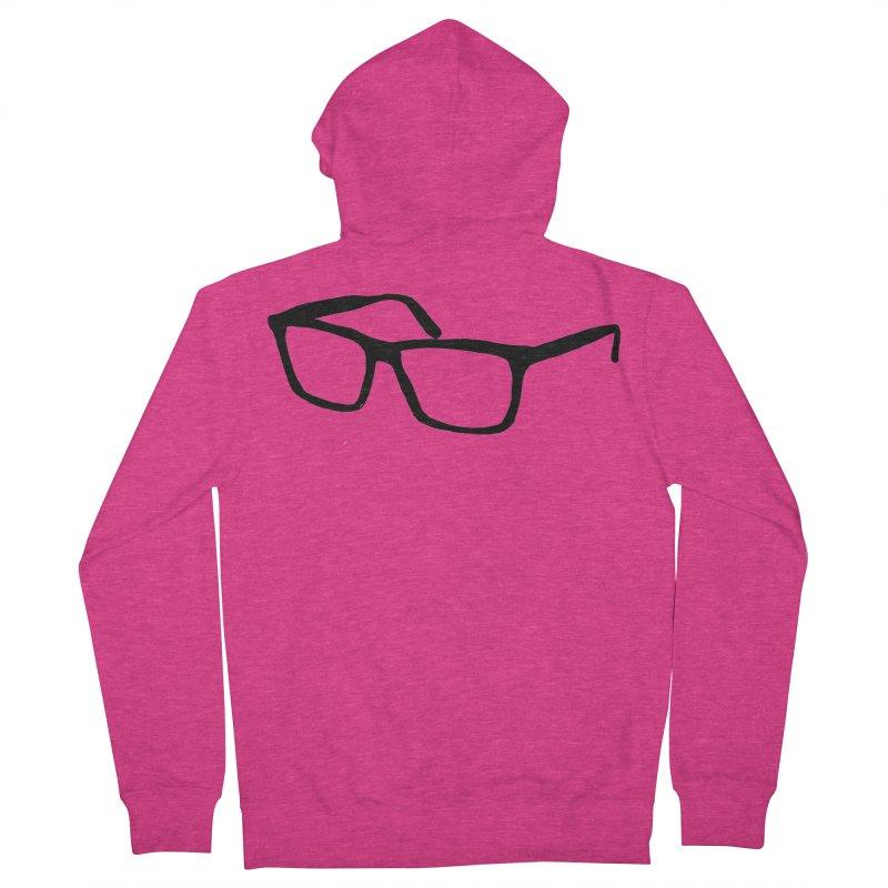glasses Women's French Terry Zip-Up Hoody by sebastiansrd's Artist Shop